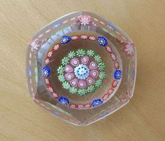 Quality Antique Faceted Glass Millefiori Paperweight Clichy? Baccarat? St Louis?