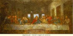Leonardo da Vinci. The Last Supper. Olga's Gallery. history of painting and restoration