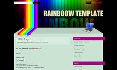 Rainboow Blogger Template Blogspot