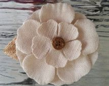 "3"" Tan Burlap Petal Craft Flower"