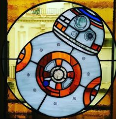 Great stuff. Watch their gallery here! http://instagram.com/plom_art BB-8 made of stained glass.
