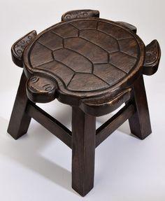 Sea turtle stool for downstairs bathroom. So cute!