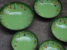 Keramik, Schüssel mit Blumenwiese