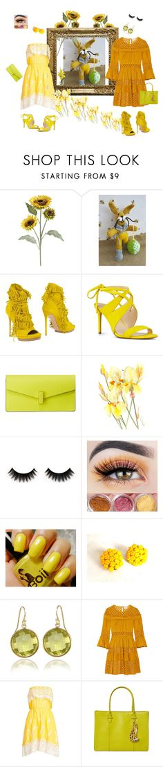 """""""Eester Bunny Presents"""" by grashka on Polyvore featuring moda, Pier 1 Imports, Casadei, Nine West, Valextra, Cinq à Sept, Christophe Sauvat i Charlotte Olympia"""