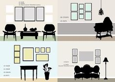 Gallery wall design guides.