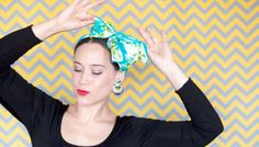 Vintage scarf bow headband