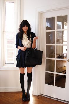 Always loved the school girl look for some reason....maybe deja vue from Catholic school uniform days.