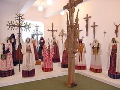 The collection of Lithuanian traditional costumes - beauty!  #lithuania