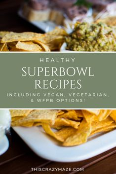 Delicious football food recipes for your Super Bowl party! Includes options that are healthy, vegetarian, vegan, and WFPB! Healthy Holiday Recipes, Healthy Snacks, Vegetarian Recipes, Eating Healthy, Healthy Tips, Vegan Vegetarian, Clean Eating, Herb Recipes, Whole Food Recipes