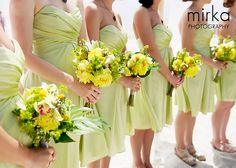 green bridesmaid dresses perfect for the beach