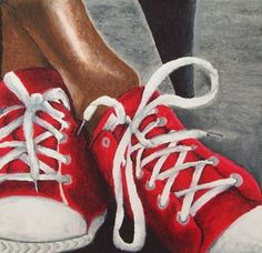Oil Pastel Study of Shoes - Conway High School Art Project
