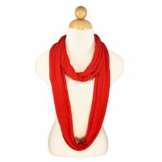 TrendsBlue Elegant Solid Color Infinity Loop Jersey Scarf - Diff Colors Avail