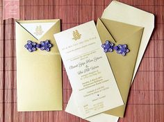Gold And Purple Chinese On Wedding Invitation Card For Reception