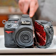 camera fake-funny-food. I want a cake like this for my birthday this year!