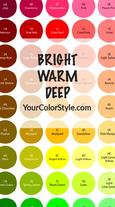 Get Your Complete Bright, Warm & Light Color Palette Hi, I'm Jen Thoden. Download the complete Bright, Warm & Light color palette exclusively from my new Your Color Style™ system. This color palette is ideal for people with warm undertones, who can wear clear colors (muted colors drain them