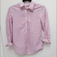 American eagle striped top! Super cute and preppy button down from American eagle! Trade value 25! Dress up or dress down :) price is negotiable American Eagle Outfitters Tops