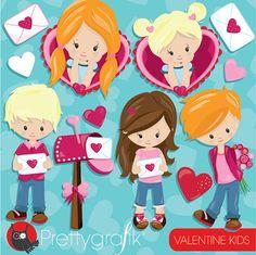 80% OFF Venta Valentine clipart niños uso comercial San
