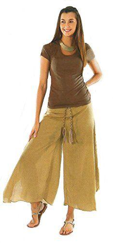 Sacred Threads Crinkle Cotton Hippy Tan Camel Boho Crop Pants S/M Cropped Pants, Harem Pants, Autumn Fashion Casual, Crinkles, Hippy, Camel, Boho, Cotton, Harem Trousers