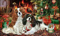 ♥Cavalier King Charles Christmas...........