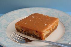 Salted Caramel Dulce de Leche Cheesecake Bars