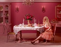 Ken and Barbie dinner by Dina Goldstein