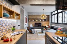 Mix & Match -interior-redesign-wohnzimmer-loft-stil-beton