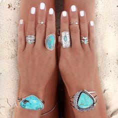 DESERT WANDERER DREAMING: Turquoise Cuffs + Turquoise Stacking ring set + Turquoise ring + Element Turquoise Stamped ring – At Thursday > atthursday.com.au | Belt + Tee + Shirt – Turquoise Lane > turquoiselane.com.au | Leg Chain + Necklace + Triangle Turquoise Stacking ring + Arrow midi ring > GypsyLovinLight.com/shop | Rings: Eastern Soul > easternsoul.com.au | Midsummer Star > midsummerstar.com.au
