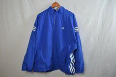 Blue Adidas Windbreaker Jacket