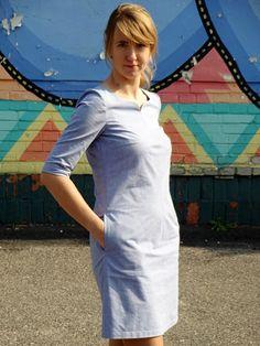 sukienka Burda 10/2005 model 119 A; dress
