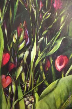 Lush, new painting, by Vanessa Snyder, via Behance