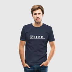 mad kiter_vec_3 de T-Shirts - Männer Slim Fit T-Shirt