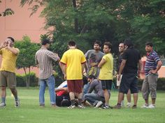 ohh..!! Someone's Down - An injured player crying in pain - PCCare247 Football Tournament 2012
