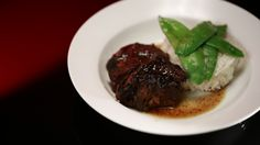 Slow Cooked Beef Cheeks in Soy and Orange Sauce - My Kitchen Rules 2014 Vegetable Recipes, Beef Recipes, Cooking Recipes, Healthy Recipes, Slow Cooking, Yummy Recipes, Dinner Recipes, Beef Rendang Slow Cooker, Slow Cooker Beef