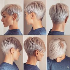 Super Short Hair, Short Grey Hair, Short Hair Styles, Medium Hair Styles, Long Hair, Short Pixie Haircuts, Short Hairstyles For Women, Cut Hairstyles, Blonde Pixie Hairstyles