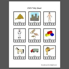 CVCV Tally Sheet - Pinned by @PediaStaff – Please Visit ht.ly/63sNtfor all our pediatric therapy pins