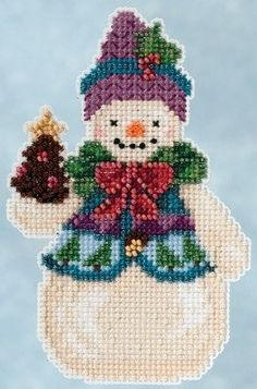 Pinecone Snowman Ornament kit