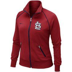 Nike St. Louis Cardinals Women's Full Zip Track Jacket - Red