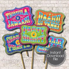 Desi Style Photo Booth Props Indian Themed Party Signs