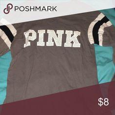 Grey Long Sleeve Maybe worn 3 times PINK Tops Tees - Long Sleeve
