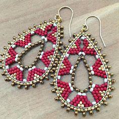 The Beading Gem's Journal: Original Tiny Beaded Earrings by Leslie Sykes O'Neill