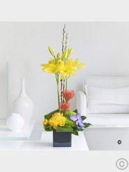 Spring Lily, Rose & Orchid Arrangement