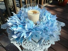 This cute little wreath would make a great centerpiece for a small table for a baptism or just to hang beautifully in the nursery. Description from etsy.com. I searched for this on bing.com/images