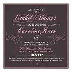 Ornate Opulence Bridal Shower Invitation