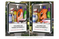 Brilliant Advertisment  - Children see things differently: Read the labels.