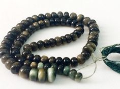 Cats Eye Beads Cats Eye Plain Rondelle Green Cats by gemsforjewels