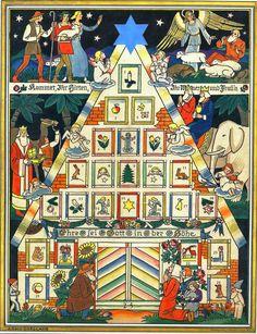 Historischer Adventskalender Ehre sei Gott Arno Drescher Vergriffener Reprint in Sammeln & Seltenes, Saisonales & Feste, Weihnachten & Neujahr   eBay