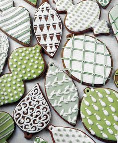 MARTHA STEWART Gingerbread Christmas cookies. I made these many years back from one of her magazines. They were a lot of work but were incredible! ♥