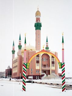 Mosque in Almetyevsk Mosque Architecture, Religious Architecture, Art And Architecture, Architecture Details, Islamic World, Islamic Art, Beautiful Mosques, Grand Mosque, Building Art