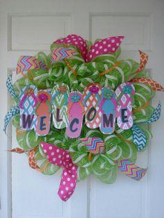 Welcome flip flop wreath