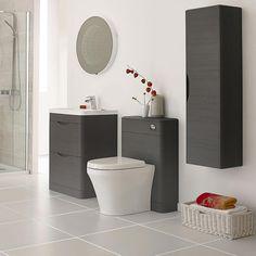 Monza 550mm Wide WC Unit (Stone Grey Woodgrain - Depth 200mm) Profile Large…
